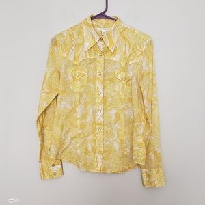 Banana republic Super Thin Cotton Western shirt M